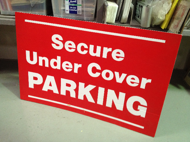 SIG0013 SIGN, Secure Undercover Parking $22.50