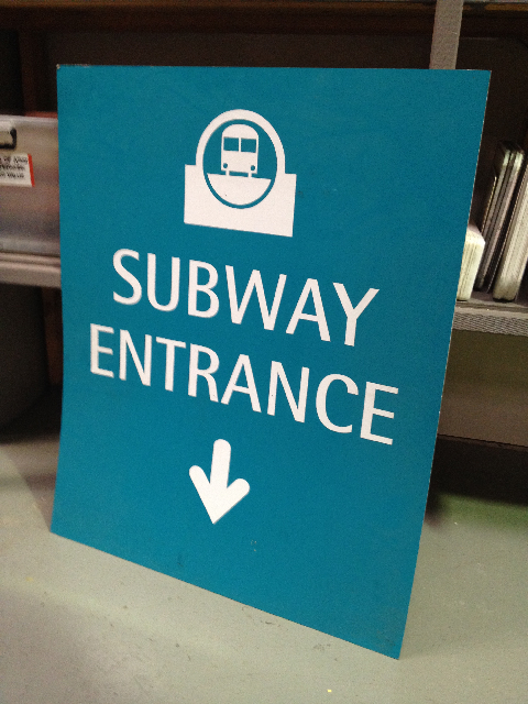SIG0015 SIGN, Subway Entrance $22.50