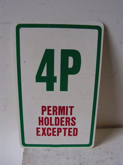 SIG0357 SIGN, Road Sign - Parking 4P Green $11.25