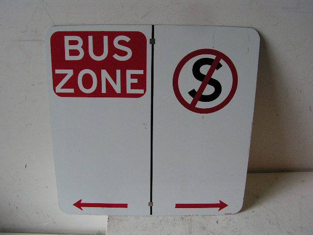 SIG0359 SIGN, Road Sign - Bus Zone $11.25