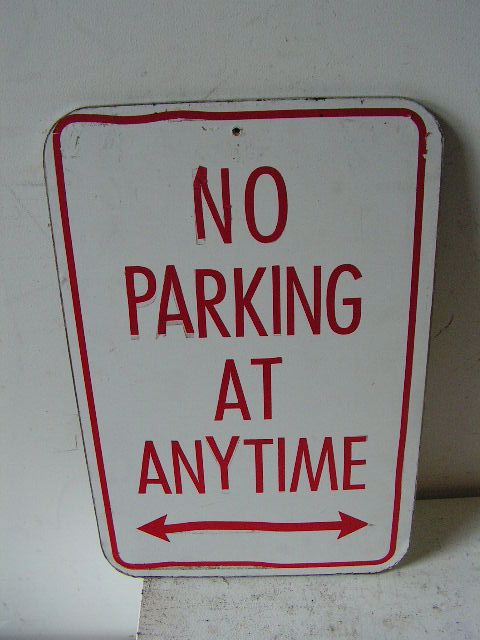SIG0361 SIGN, Road Sign - No Parking Red $11.25