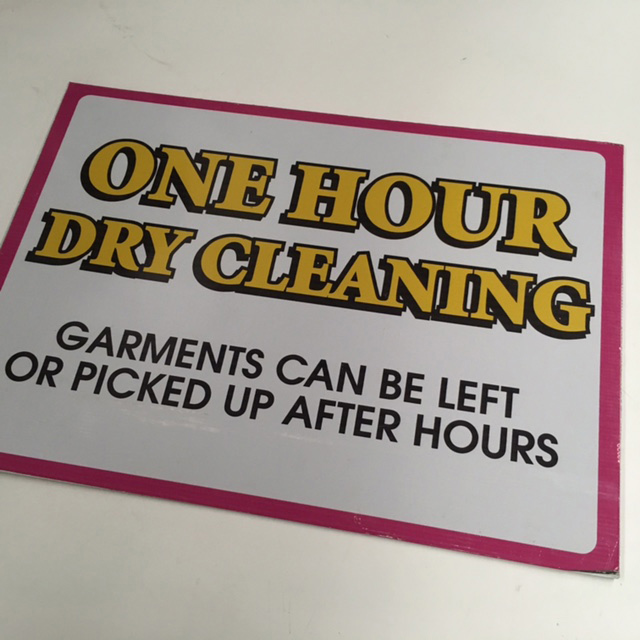 SIG0072 SIGN, Store - Dry Cleaning 50x70cm $22.50