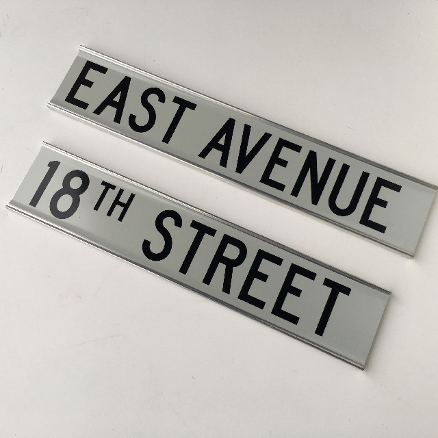 SIGN, Road Sign - Reflective East Avenue (SIG0409) or 18th St (SIG0410) $15