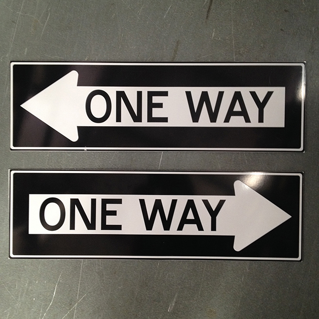 SIG0068 SIGN, Road Sign - One Way $12.50
