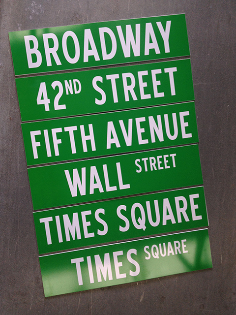 SIG0070 SIGN, Road Sign - USA Green New York $12.50