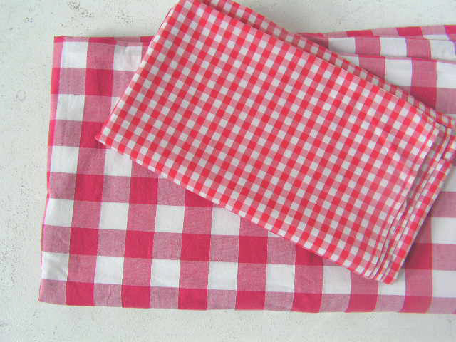 TABLECLOTH, Red & White Assorted $10 - $20