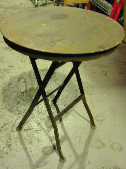 TAB0012 TABLE, Side Table - Rusted Iron (Folding) $30