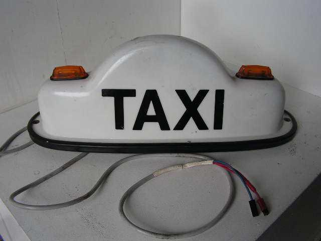 SIG0096 SIGN, Taxi Bubble Australian w Wiring $30