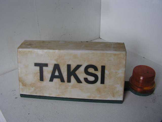 SIG0095 SIGN, Taxi Bubble Euro Taksi $30