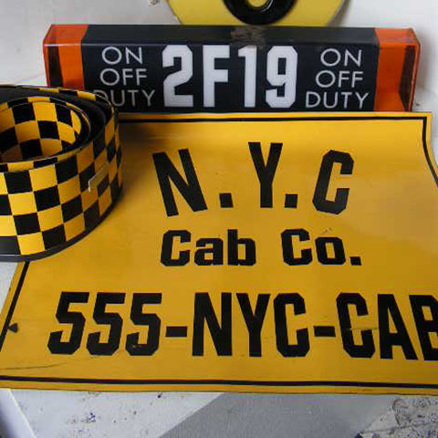 SIG0092 SIGN, New York Magnetic Cab Signage (Bundle of 3) $30