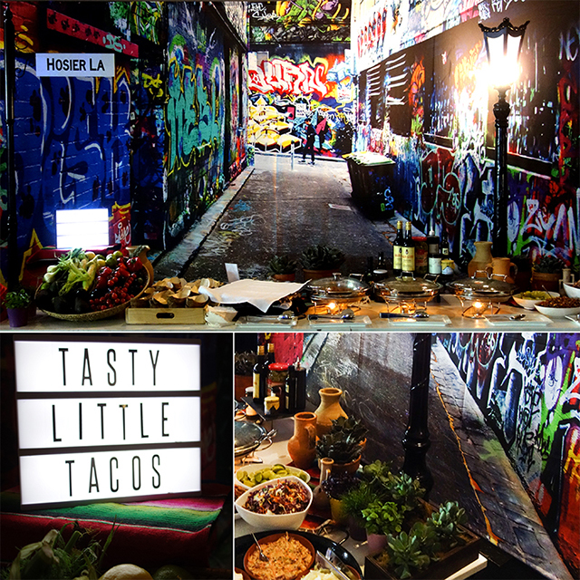 Event Styling - Melbourne Laneways Taco Station