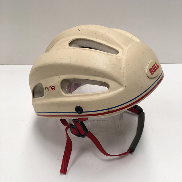 HEL0002 HELMET, Adult Bicycle - White 1970s Bell $18.75