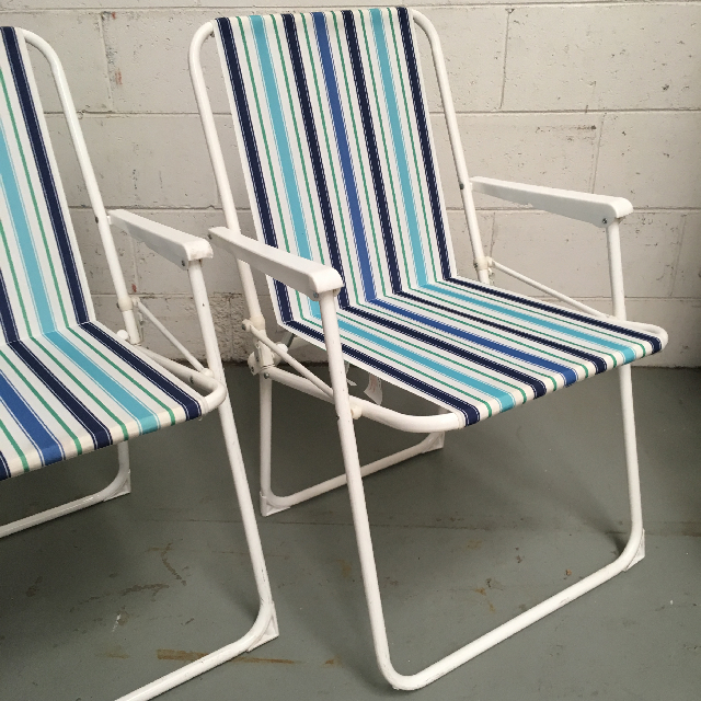 CHA0100 CHAIR, Beach - Blue & White Stripe $12.50