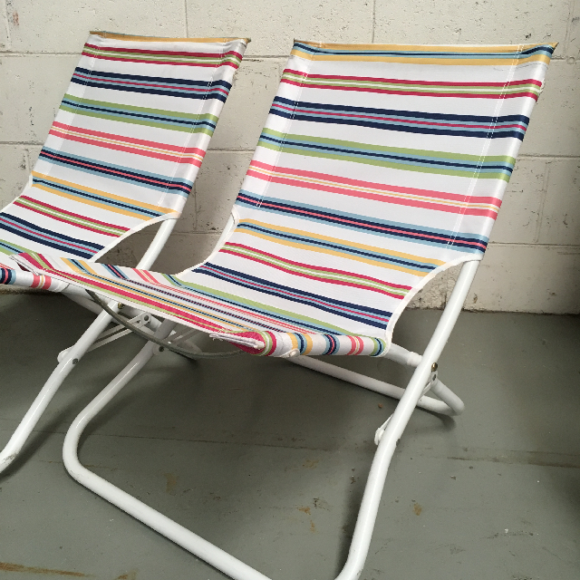 CHA0106 CHAIR, Beach - Multicolour Stripe $11.25