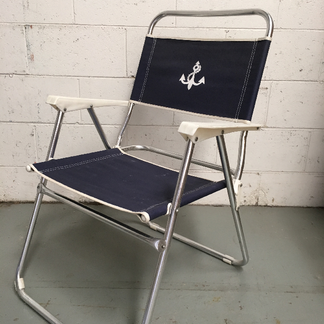 CHA0109 CHAIR, Beach - Navy with Anchor $12.50