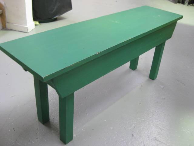 BEN0100 BENCH, Timber - Painted Green 1.1m Long $30