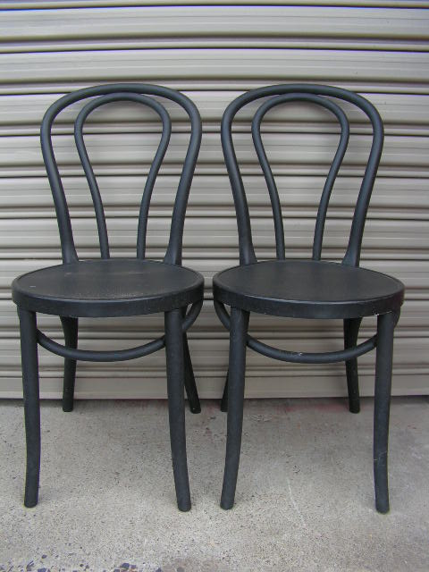 CHA0301 CHAIR, Café - Black Bentwood $25
