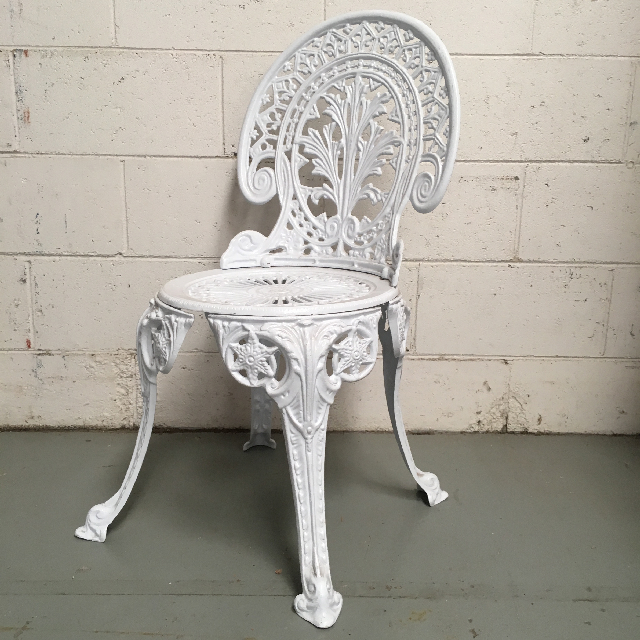 CHA0204 CHAIR, Garden - Metal White Lacework  $22.50