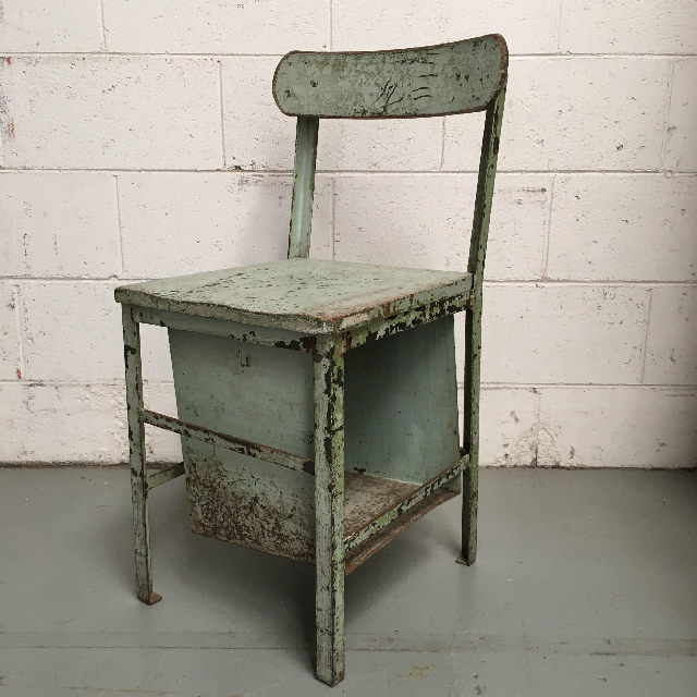 CHA0250 CHAIR, Metal Industrial with Box - Pale Green $22.50