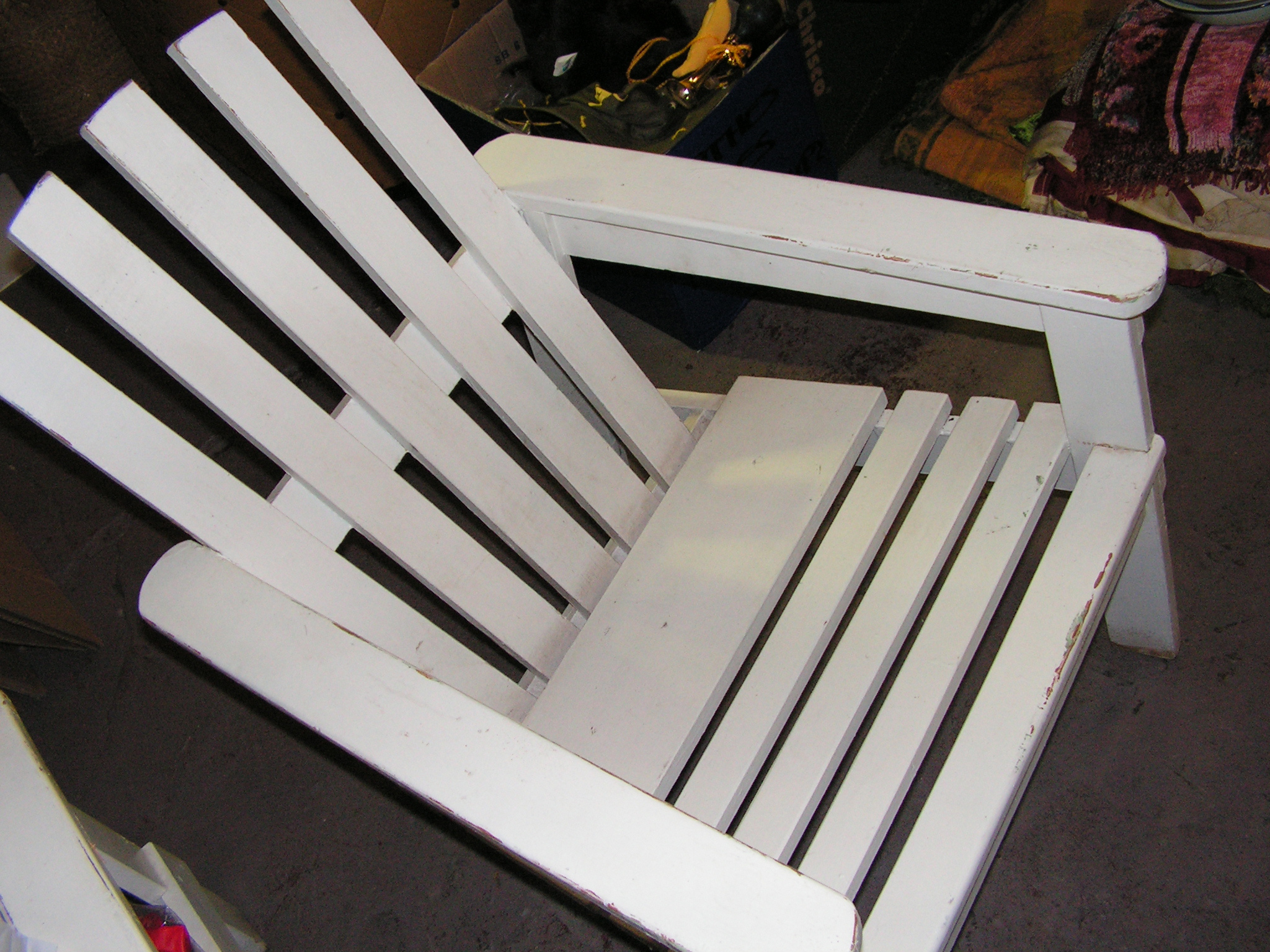 CHA0205 CHAIR, Garden - Timber White Slat (Cape Cod Style) $37.50