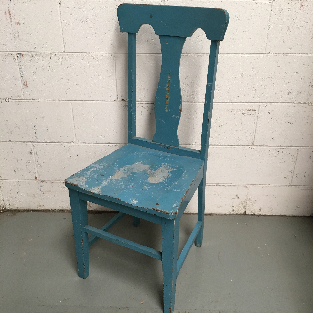 CHA0351 CHAIR, Timber - Straight Back Painted Blue $23.75