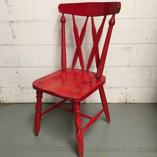 CHA0353 CHAIR, Timber - Painted Red $23.75
