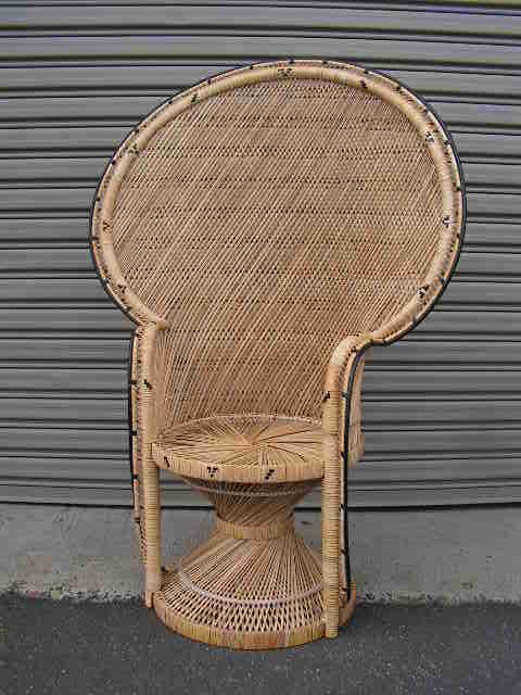 CHA0206 CHAIR, Peacock chair - Cane Large 1.5m H $62.50