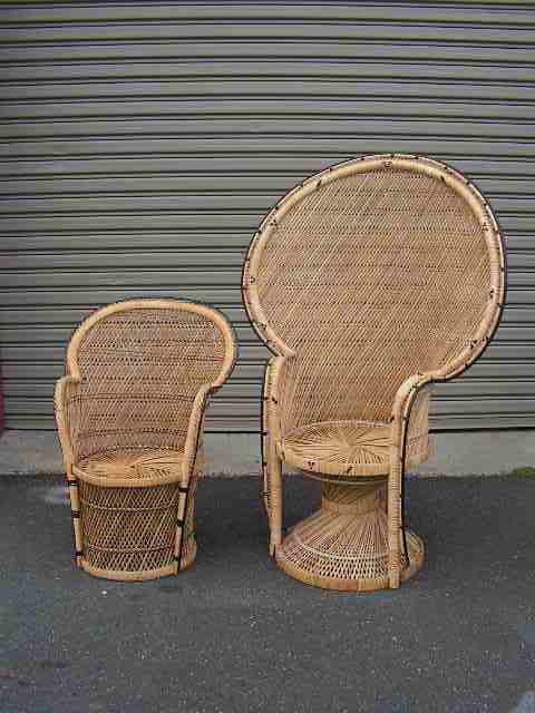 Small and Large Peacock Chairs