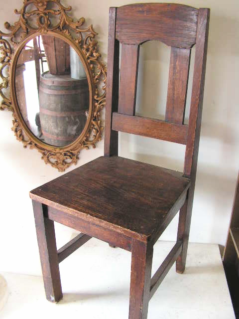 CHA0302 CHAIR, Café - Straight Back 1940s Stained Timber $23.75
