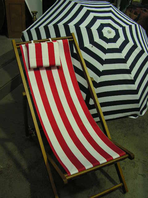 Deck Chair & Umbrella Setup