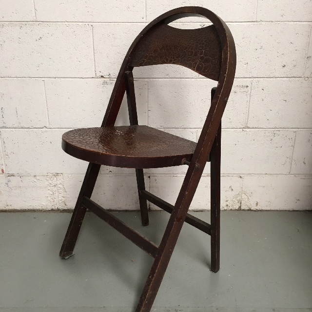 CHA0504 CHAIR, Folding Timber - Croc Skin Finish $20