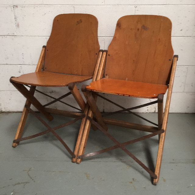 CHA0507 CHAIR, Folding Timber Theatre, Set of 2 $30