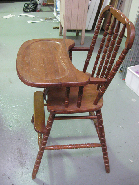 CHA0020 CHAIR, Highchair - Vintage Timber $30
