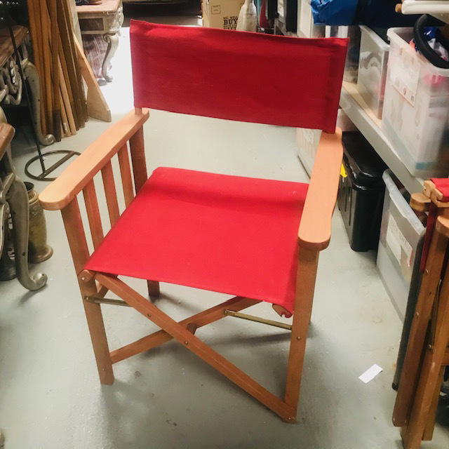 CHA0554 CHAIR, Steamer Chair - Red  $18.75