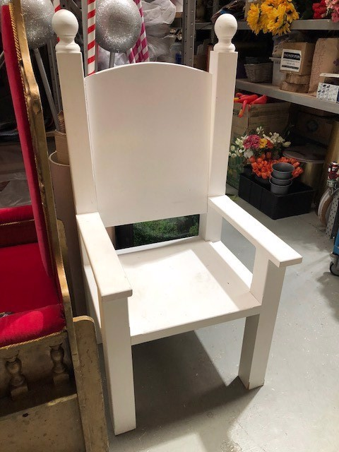 THR0101 THRONE, Timber White 68cm (W) 143cm (H) 64cm Deep $100