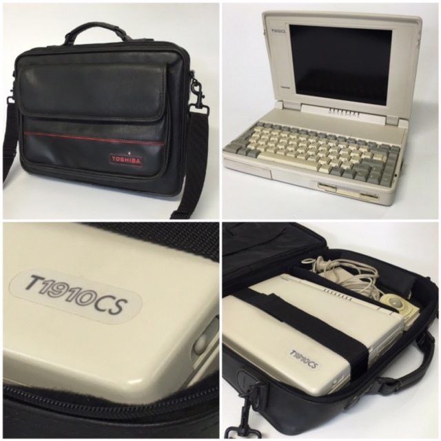 LAP0002 LAPTOP, Beige Toshiba T1910CS - Package w Bag $30