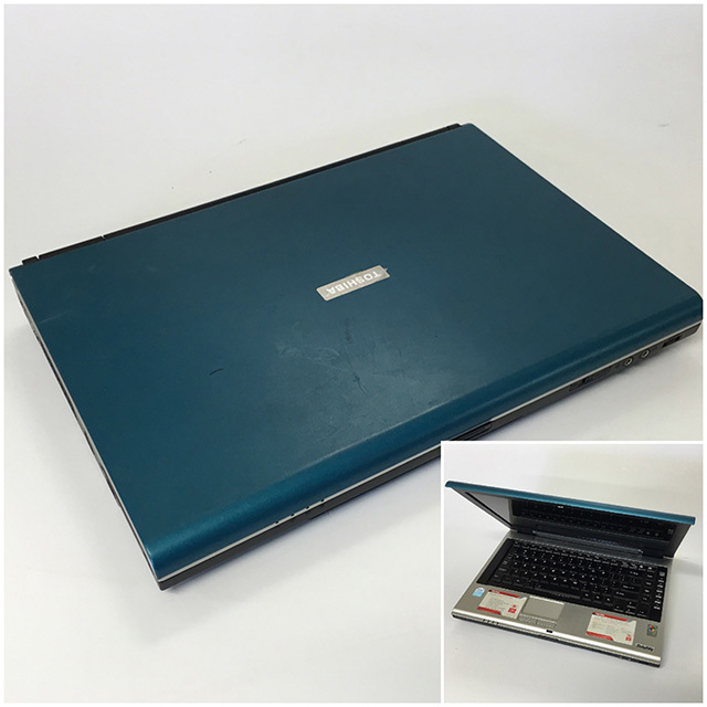 LAP0010 LAPTOP, Blue Silver Toshiba $20