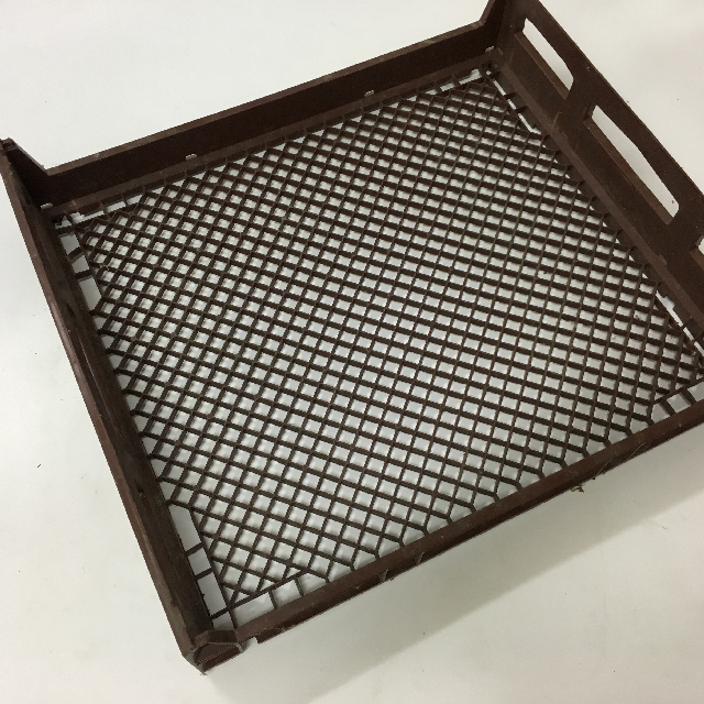 CRA0054 CRATE, Plastic Bread Tray - Brown $12.50