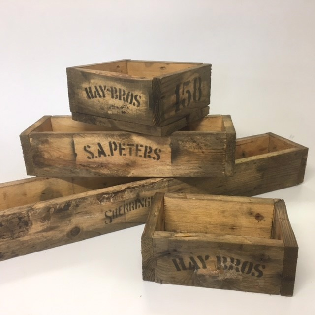 Group of Extra Small Rustic Crates